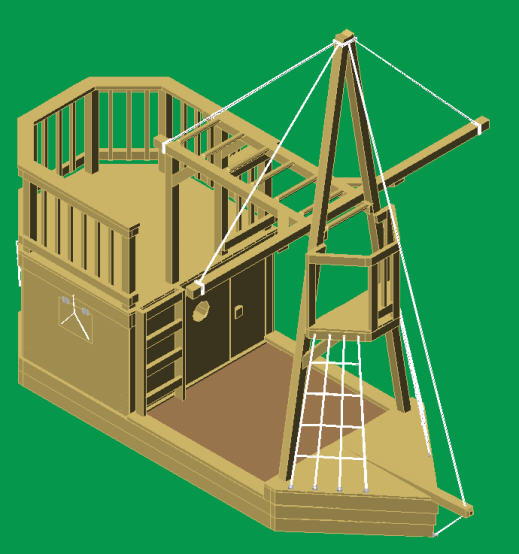 Pirate Ship Playground Blueprints