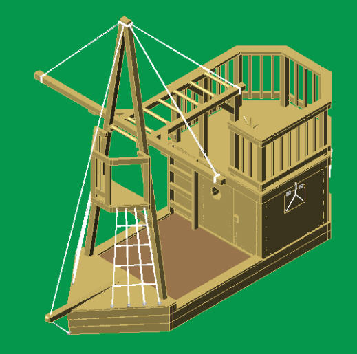 Diy wooden pirate ship playground plans plans free for Diy play structure